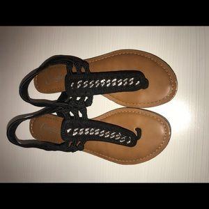 Candies black sandals